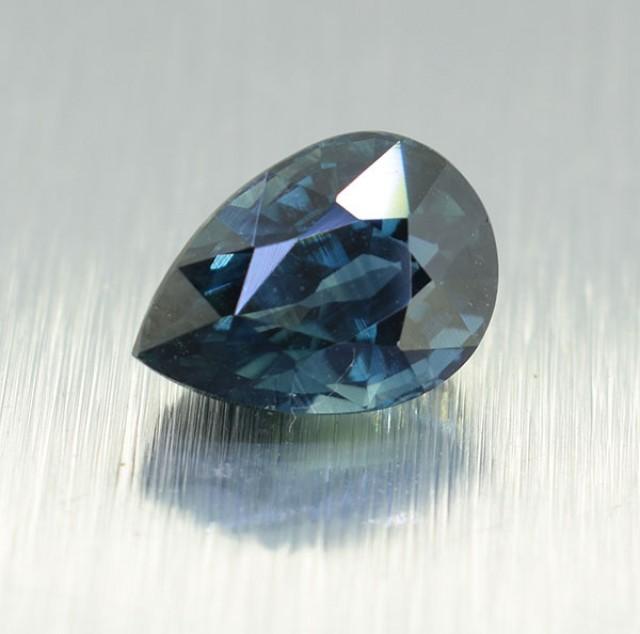 Natural Ceylon Pear Shaped Blue Sapphire, 2.09 Ct (00500) Bi-Colour / Peaco