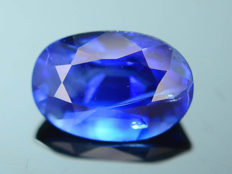 gemstone pin real cabochon cts oval lustrous thailand blue sapphire royal