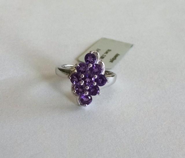 Amethyst 925 Sterling silver ring #36500