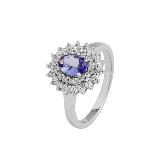 VVS Tanzanite 925 Sterling silver ring #36479
