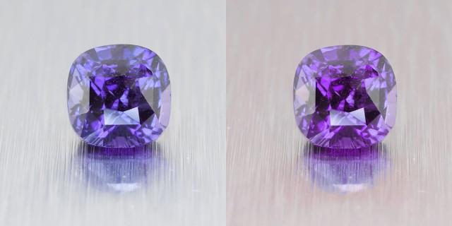 Natural Ceylon Blue Sapphire, ** Colour Change ** Cushion Cut 1.60 Ct (0043