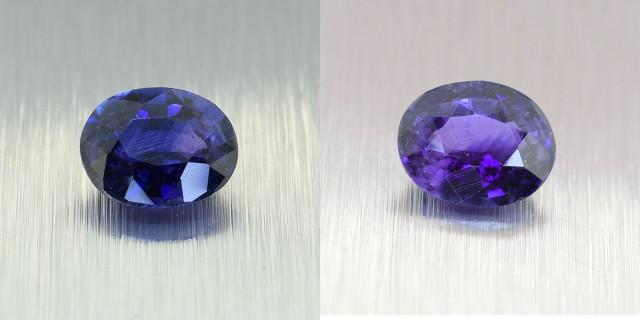 Natural Ceylon Blue Sapphire, ** ROYAL BLUE - Colour Change ** 1.33 Ct (004