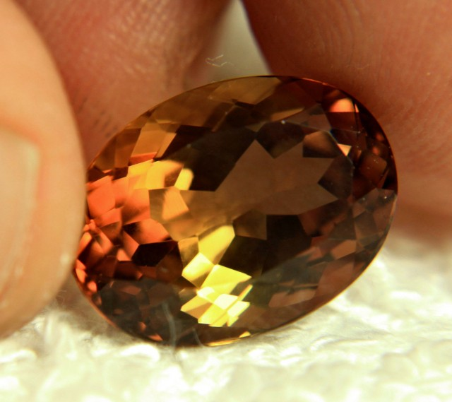 12.85 Carat Brazil Golden VVS Topaz - Gorgeous