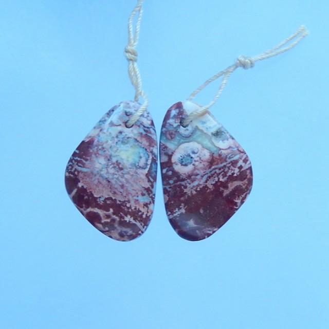 14.5ct Natural Chohua Jasper Earring Pair(17071308)