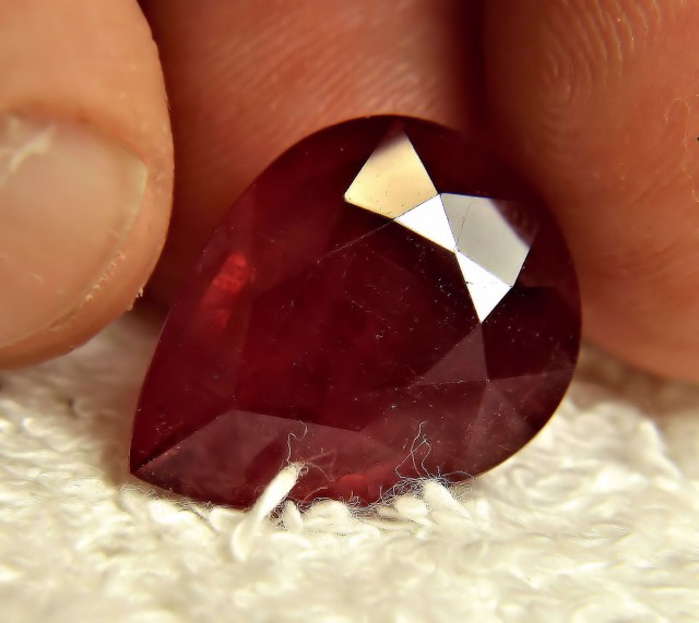 16.57 Carat Pear Cut Ruby - Gorgeous