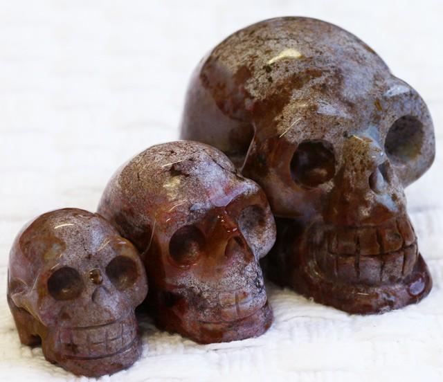 Cute Jasper family Gemstone Skull  PPP 1351