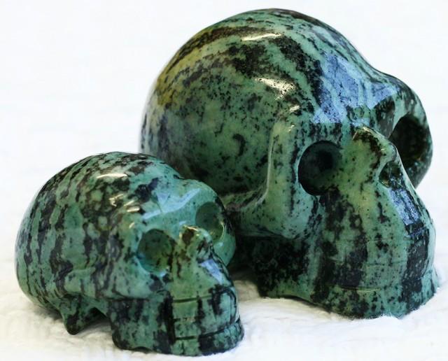 Cute Veined Jasper family Gemstone Skull  PPP 1360