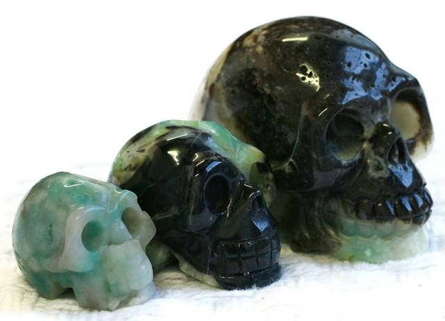 Cute Amazonite family Gemstone Skull  PPP 1357