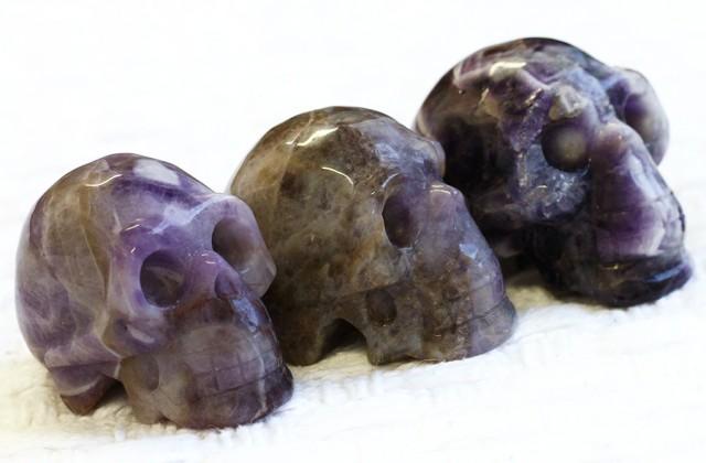 Cute Amzonite family Gemstone Skull  PPP 1361
