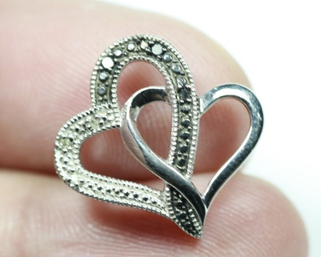 8.51Ct Stamped 925 Silver Natural Diamond Pendant Jewelry