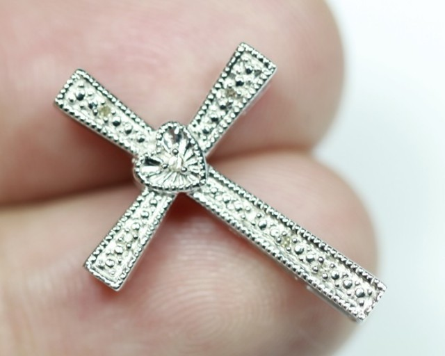 8.91Ct Stamped 925 Silver Natural Diamond Pendant Jewelry