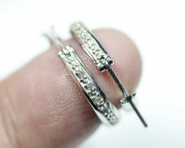 11.16Ct Stamped 925 Silver Natural Diamond Earrings Jewelry