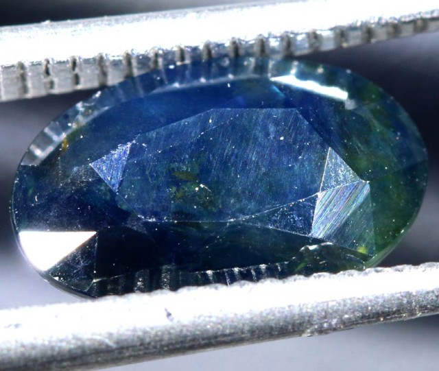 3.41CTS UNHEATED AUSTRALIAN BLUE SAPPHIRE FACETED CERTIFIED PG-2228