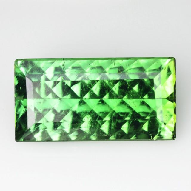 ~MILLENNIUM CUT~ 4.69 Cts Natural Tourmaline Neon Green Mozambique