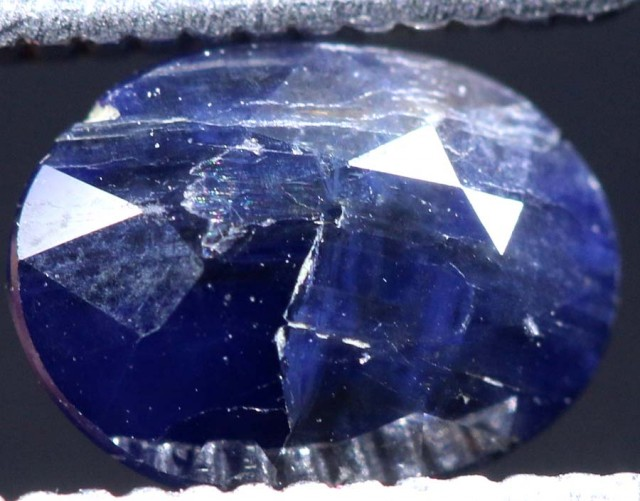 1.77CTS  UNHEATED AUSTRALIAN BLUE SAPPHIRE FACETED CERTIFIED PG-2233