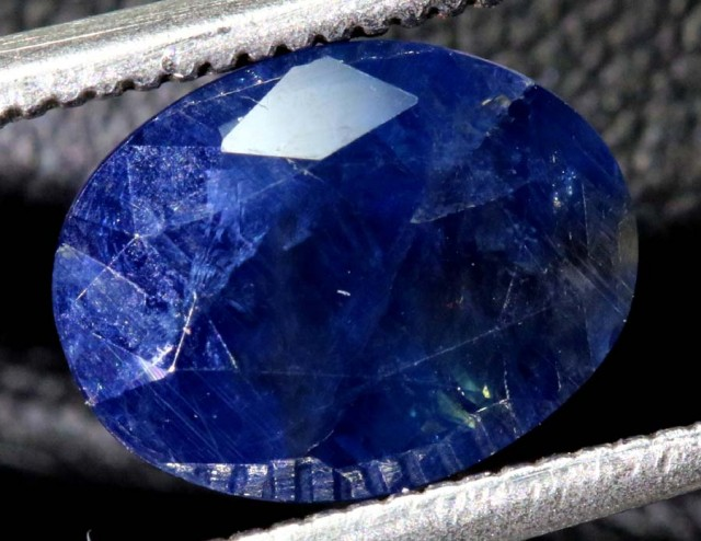 2.71 CTS UNHEATED AUSTRALIAN BLUE SAPPHIRE FACETED CERTIFIED PG-2241
