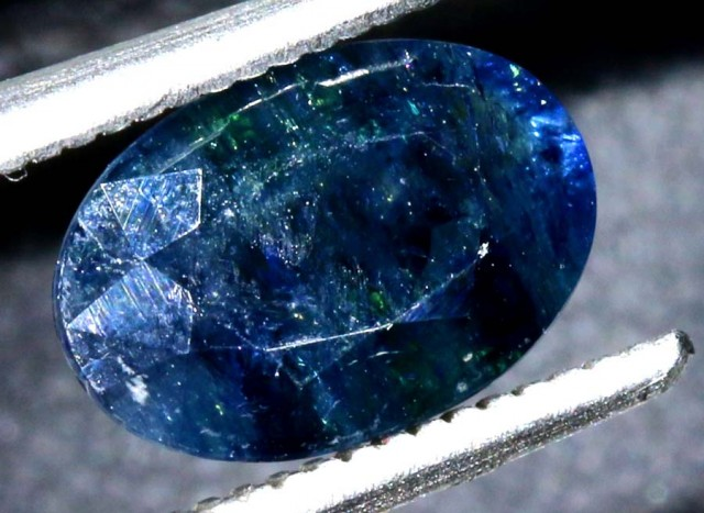 2.59 CTS UNHEATED AUSTRALIAN BLUE SAPPHIRE FACETED CERTIFIED PG-2244