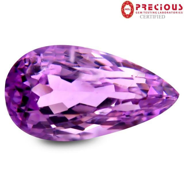 5.10 CT PGTL Certified Marvelous Pear Shape Pink Kunzite Gemstone