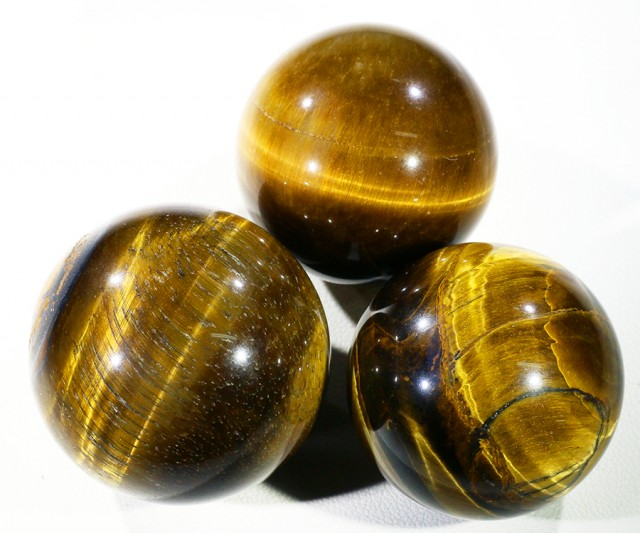 300Cts mm Parcel  Tiger eye Spheres PPP1399