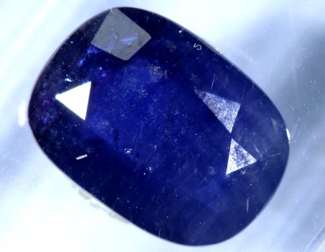 2.02CTS UNHEATED KASHMIR CERTIFIED  SAPPHIRE FACETED TBM-1321