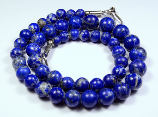 245 Cts Lapis Lazuli ROUND BEADS STRAND 10MM