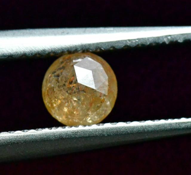 reserved 0.51ct 4.8mm round rose cut diamond cayenne orange 4.8mm by 2.5mm