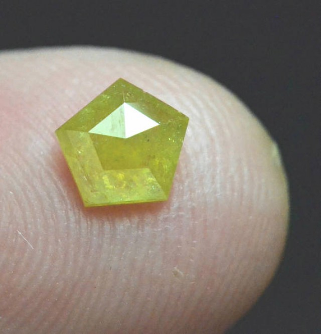 5.5mm pentagon deep yellow diamond 0.62ct 5.5 by 5.5 by 2.6mm ethical confl
