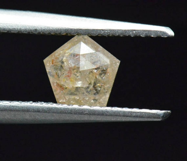 6mm pentagon diamond yellow orange white 0.615ct 6 by