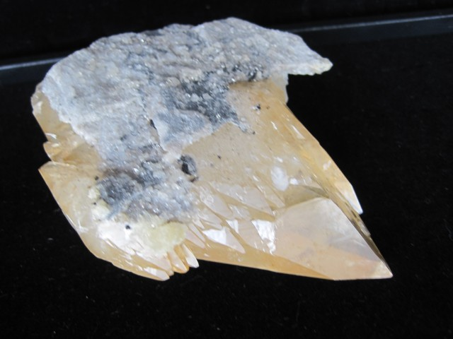 very rare  Calcite display specimen from Elmwood   Mine, Carthage, TN.