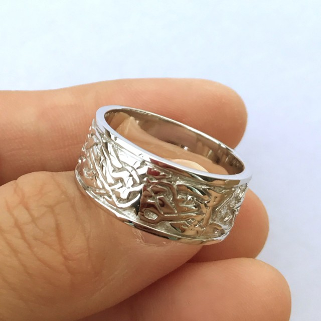 46ct Size 10 Carving Sterling Silver 925 Ring