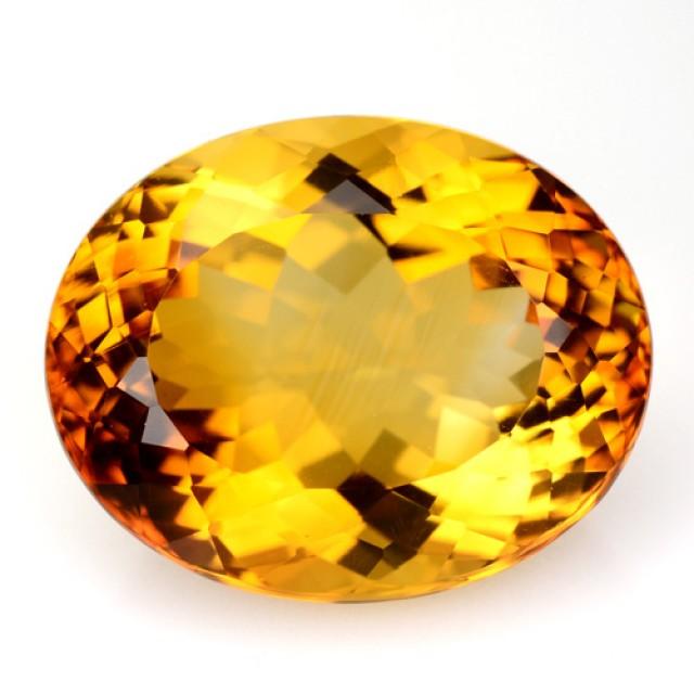 7.81 Cts Natural Golden Orange Citrine Oval Cut Brazil Gem
