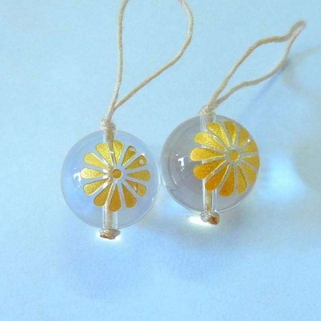 New Design!!39ct Natural White Quartz Engraved Flower Ball Shape Earri