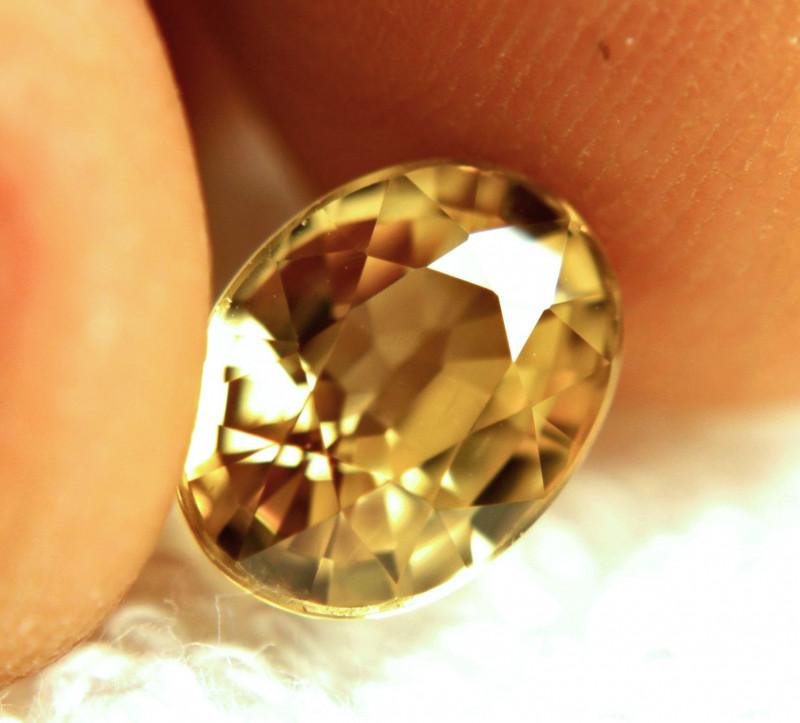 4.84 Carat VVS Golden Yellow Southeast Asian Zircon