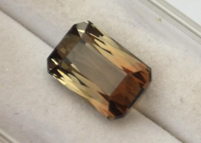 4.75 Carat Scissor Cut Bicolored Tourmaline