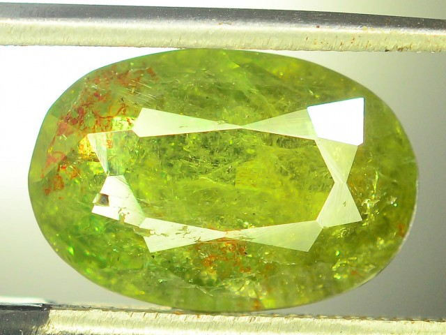4.20  ct Natural Demantoid Garnet w Horsetail Inclusion