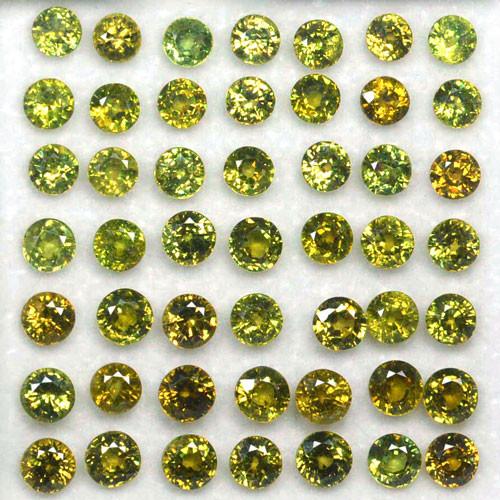 20.50 Cts Natural Demantoid Garnet (4.0-4.5 mm) Round 49 Pcs Parcel