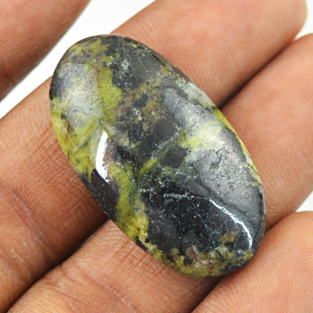 Genuine 36.00 Cts Forest Green Jasper Untreated Cab