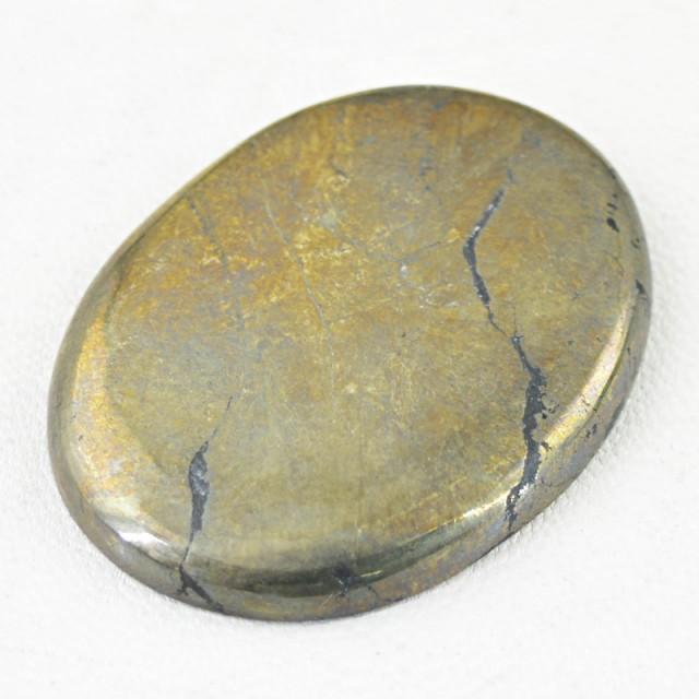 Genuine 129.00 Cts Oval Shape Golden Hematite Cab