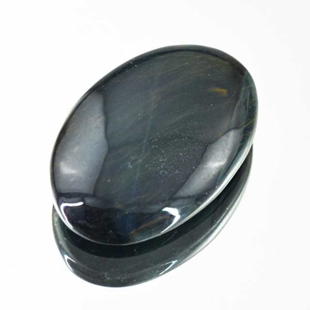 Genuine 34.50 Cts Blue Power Tiger Eye Cab