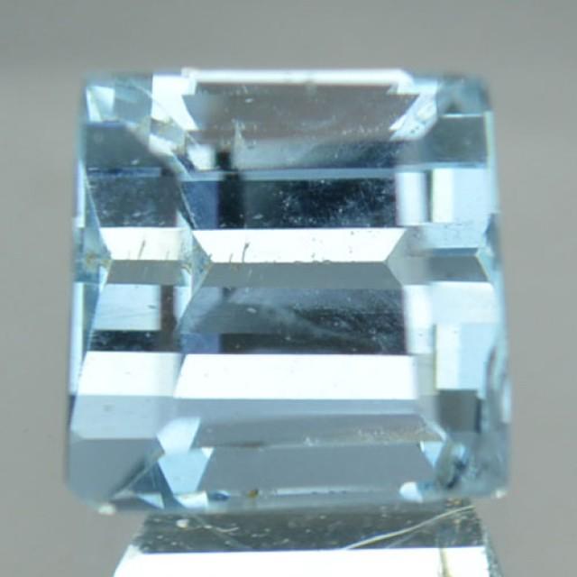 0.94Ct Natural Blue Aquamarine Octagon Cut Brazil Gem