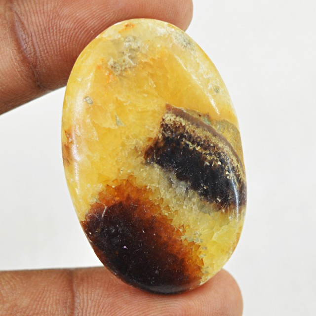 Genuine 50.00 Cts Oval Shape Septarian Agate Cab