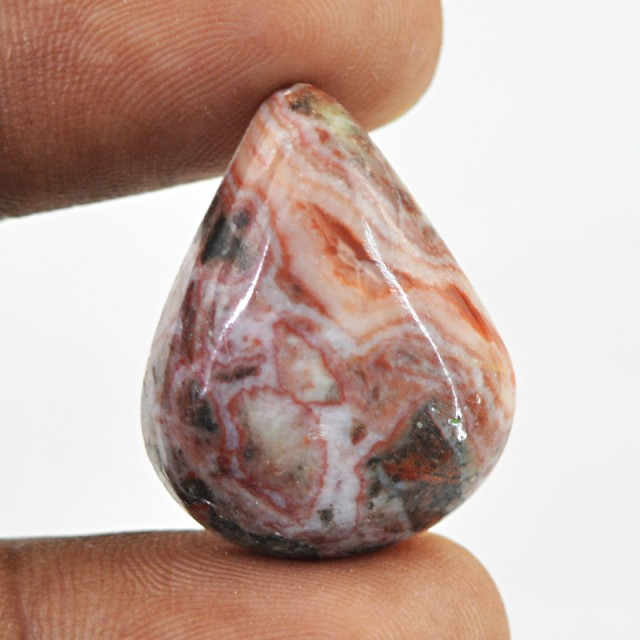 Genuine 26.00 Cts Pear Shape Crazy Lace Agate Cab