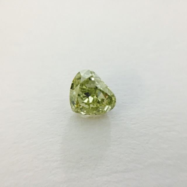 Fancy Brownish Greenish Yellow 0.43 ct Diamond Heart Shape
