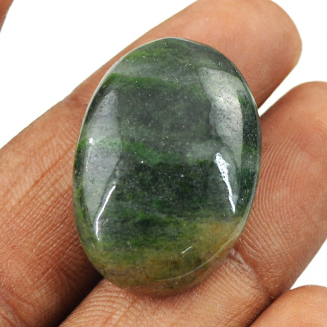 Genuine 35.10 Cts Untreated Blood Green Jasper Cab