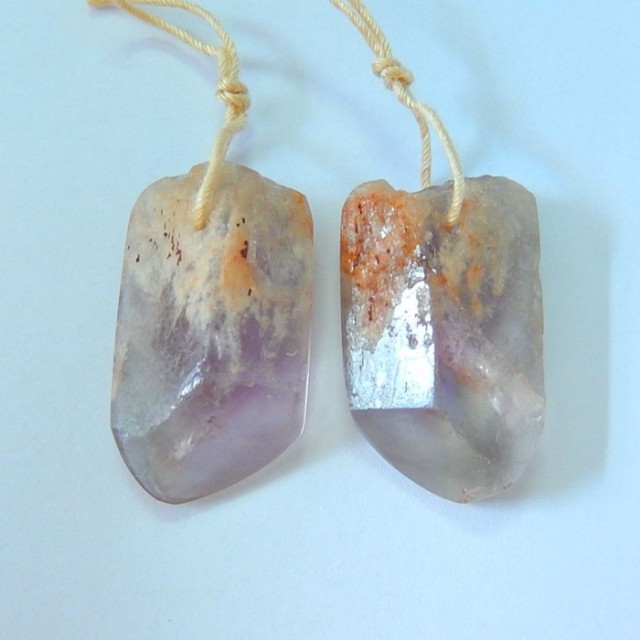 New Arrival!!! Natural Faceted Amethyst Earring Beads,Semitransparent Ameth