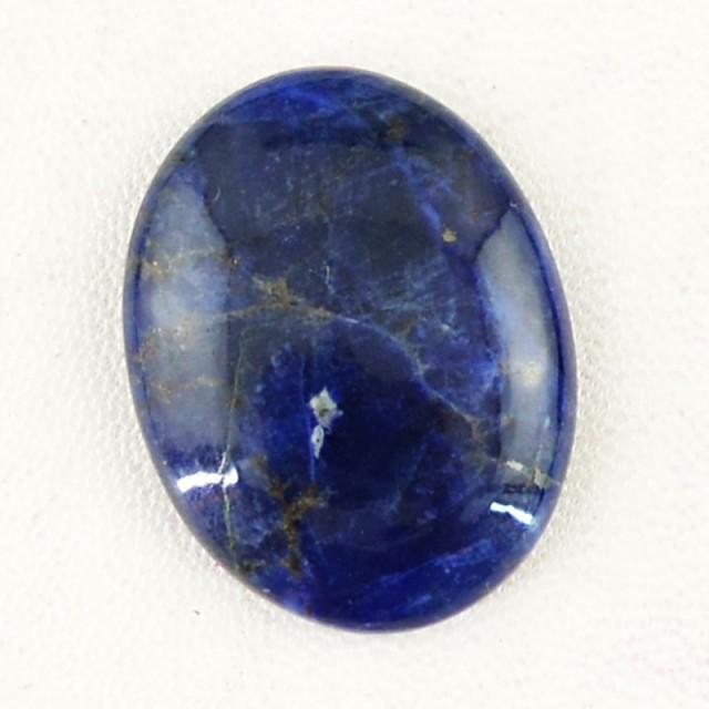 Genuine 31.50 Cts Blue Sodalite Untreated Cab