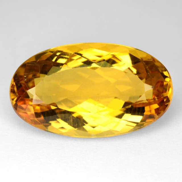 9.51 Cts NATURAL HELIODOR BERYL - GOLDEN YELLOW - OVAL - BRAZIL