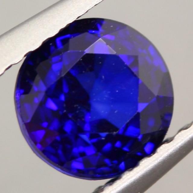 1 20ct Natural Royal Blue Sapphire Round Cut