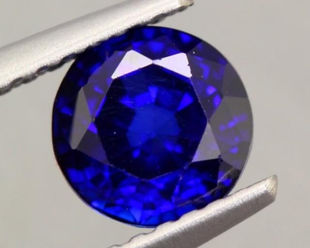 1.28Ct Natural Royal Blue Sapphire Round Cut