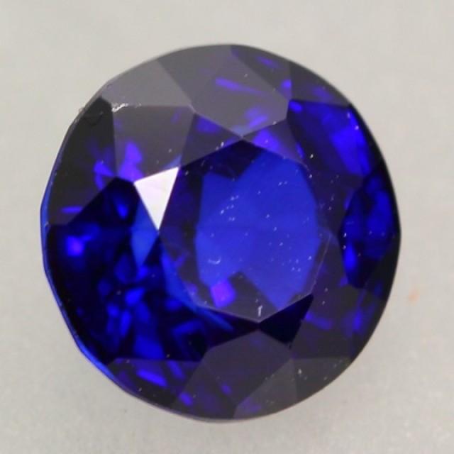 1.26Ct Natural Royal Blue Sapphire Round Cut